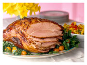 Baked-Ham-with-cider-&-spices,-quince-&-Orange-Sauces
